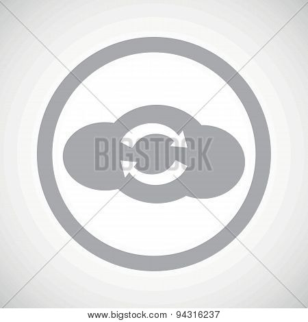 Grey cloud exchange sign icon