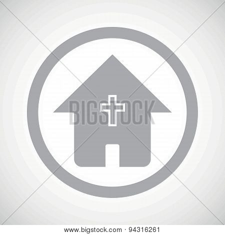 Grey christian house sign icon