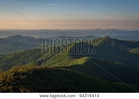 Warm Blue Ridge Mountain Sunrise 2