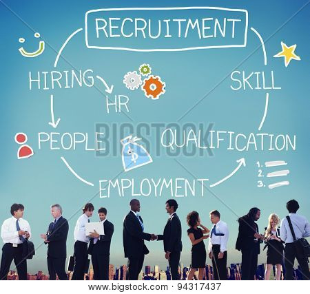 Recruitment Hiring Skill Qualification Job Concept