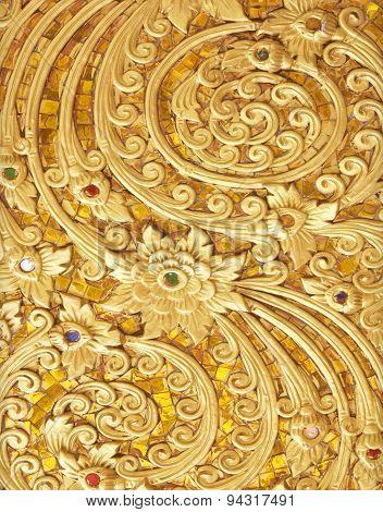 Stucco Walls Antique Flower Thailand