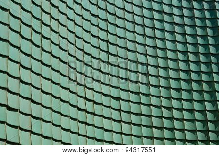 Traditional Chinese Green Glazed Tile