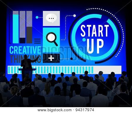 Start up Goals Growth Success Plan Business Concept
