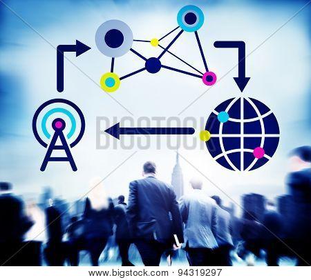 Network Storage Internet Connect Connection Concept