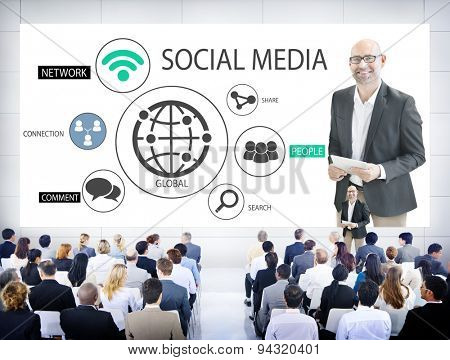 Diverse Business People in a Seminar About Social Media