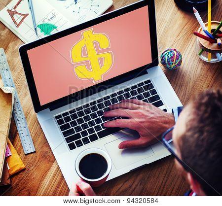 Dollar Financial Monetary Banking Money Concept