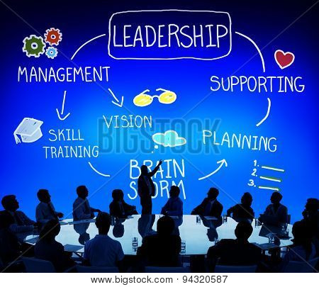 Leader Leadership supporting Management Vision Concept