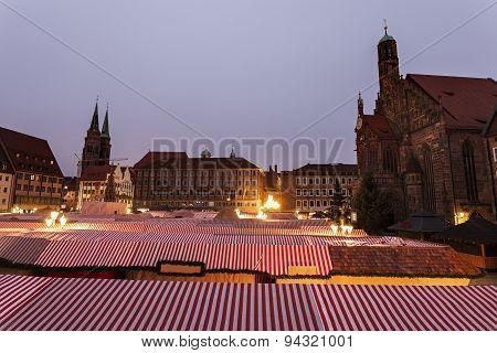 Christmas Stalls On Hauptmarkt