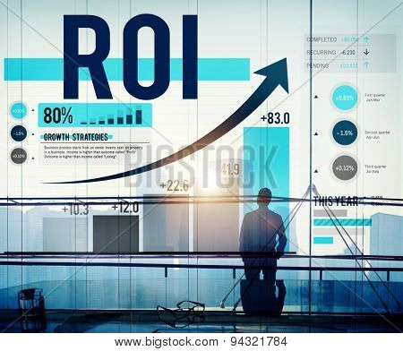 Return On Investment Financial Management Revenue Concept