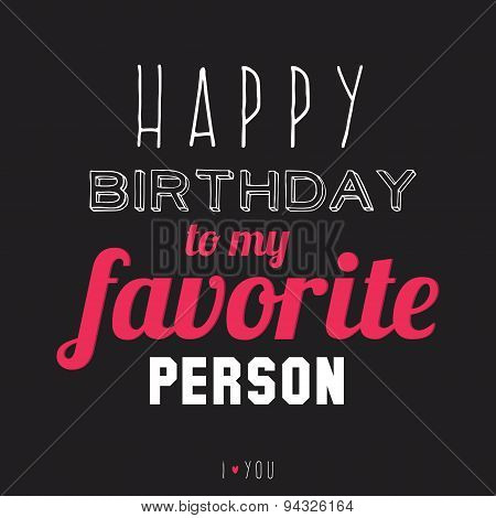 Happy Birthday to very special person