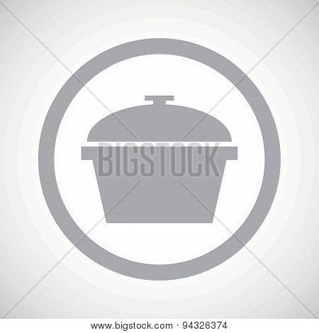 Grey pan sign icon