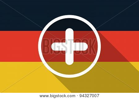 Germany  Long Shadow Flag With A Sum Sign