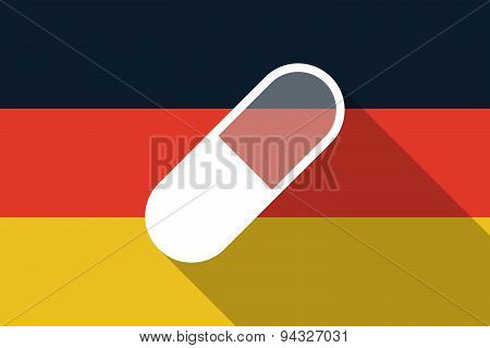Germany  Long Shadow Flag With A Pill