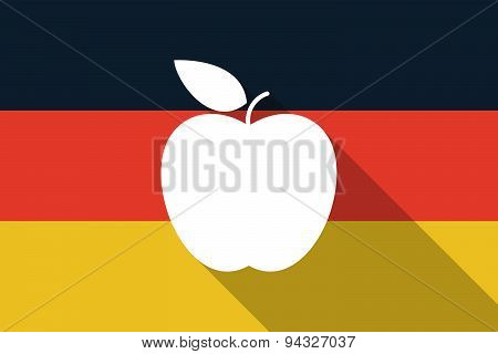 Germany  Long Shadow Flag With An Apple
