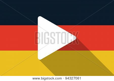 Germany  Long Shadow Flag With A Play Sign