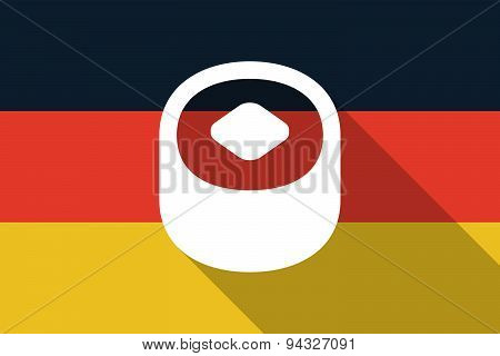 Germany  Long Shadow Flag With A Sushi