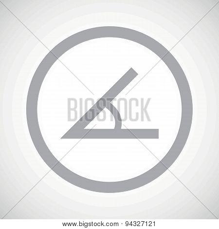Grey angle sign icon