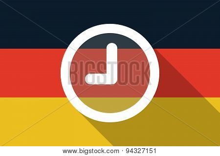 Germany  Long Shadow Flag With A Clock