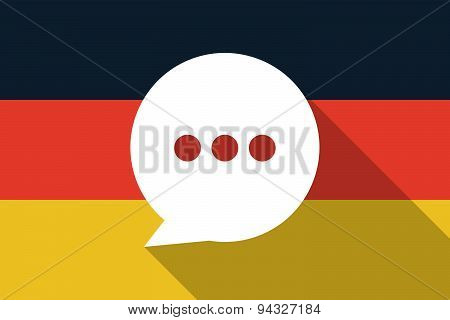 Germany  Long Shadow Flag With A Comic Balloon