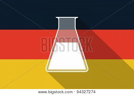 Germany  Long Shadow Flag With A Chemical Test Tube