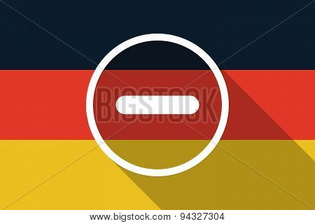 Germany  Long Shadow Flag With A Subtraction Sign