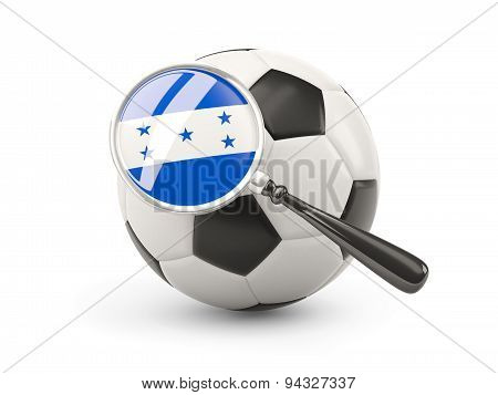 Football With Magnified Flag Of Honduras