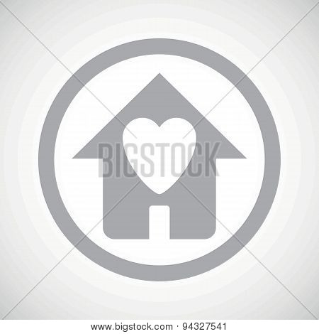 Grey beloved house sign icon