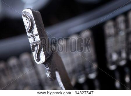 7 Hammer - Old Manual Typewriter - Cold Blue Filter