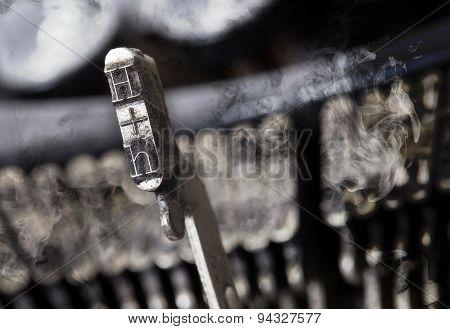 H Hammer - Old Manual Typewriter - Mystery Smoke