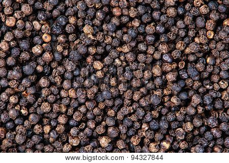 Dry Black Pepper, Peppercorn Background, Texture