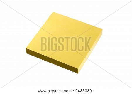 Sticky Note Block With Clipping Path