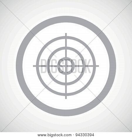 Grey aim sign icon
