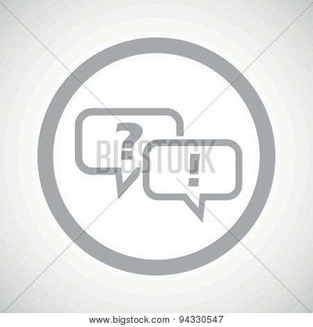Grey question answer sign icon