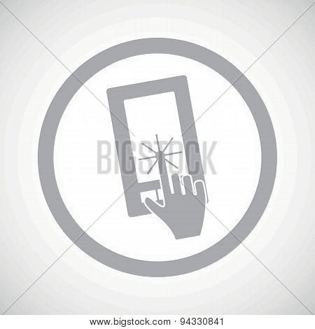 Grey touchscreen sign icon