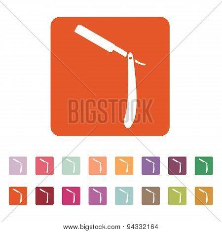 The Razor Icon. Shaver Symbol. Flat
