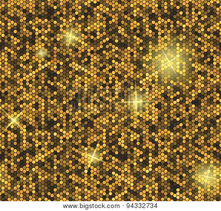 Golden seamless background with sequins