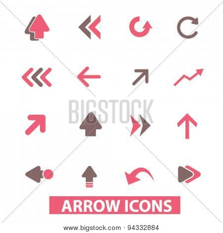 arrow, direction isolated icons, signs, illustrations, vector for internet, website, mobile application on white background