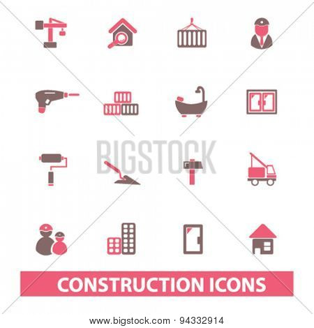 construction, repair, master isolated icons, signs, illustrations, vector for internet, website, mobile application on white background