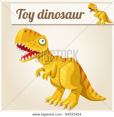 Toy dinosaur. Cartoon vector illustration. Series of children's toys