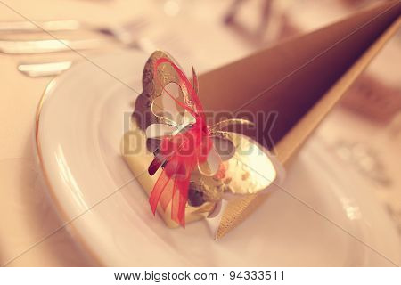 Wedding Favor On Plate