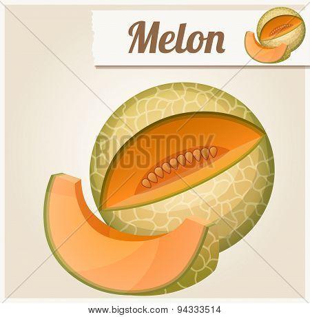 Melon. Detailed Vector Icon
