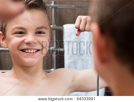 Child In Bathroom