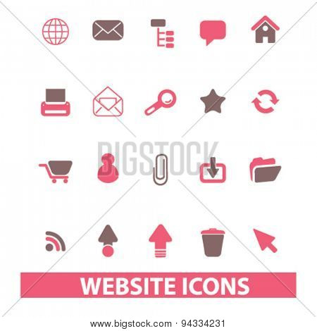 website, internet isolated icons, signs, illustrations for web, internet, mobile application, vector