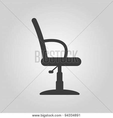 The Barber Chair Icon. Armchair Symbol. Flat