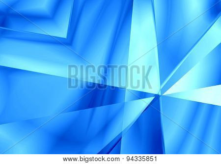 Abstract Light Mirror Shape Blue Color Background.