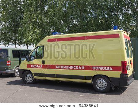 Yellow-red Ambulances