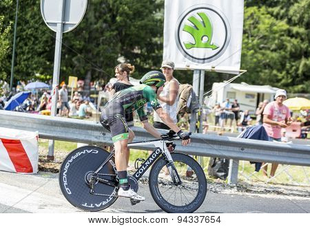 The Cyclist Cyril Gautier - Tour De France 2014