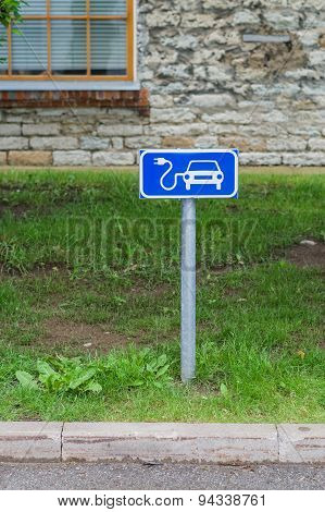 Electric Car Charging Station Sign