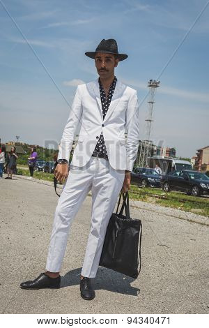 People Outside Gucci Fashion Show Building For Milan Men's Fashion Week