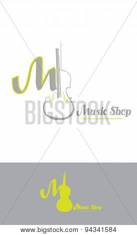 logo with stylized violin